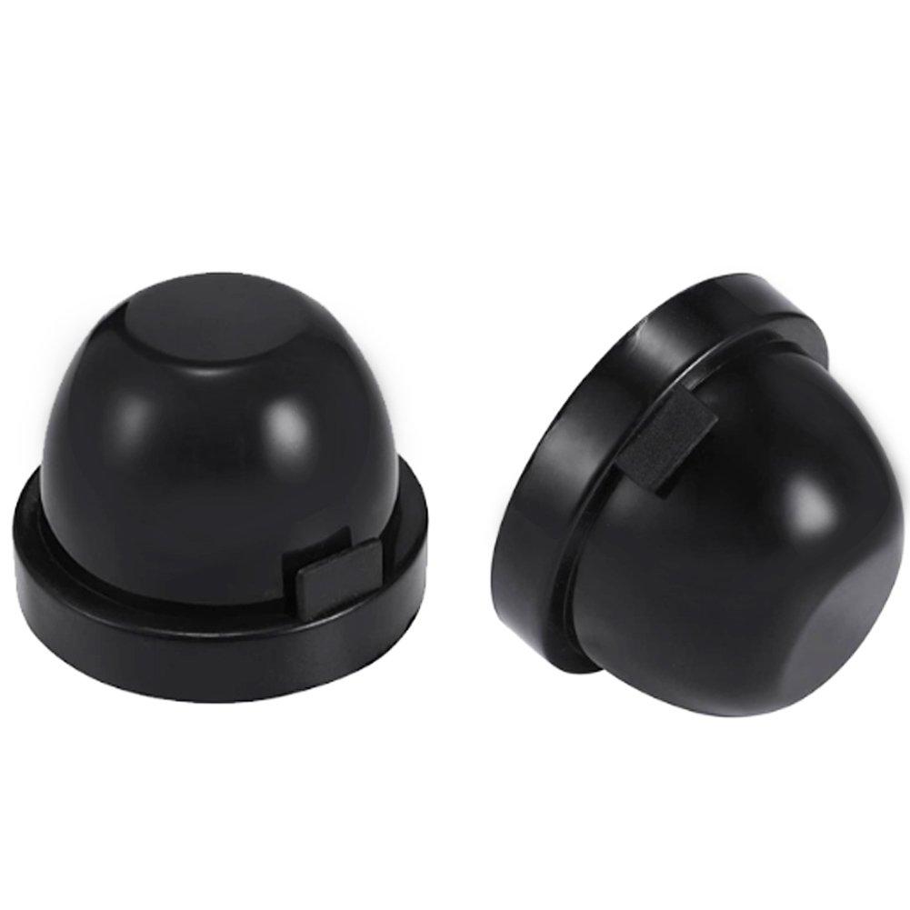 KOOMTOOM 83mm Rubber Housing Seal Cap Dustcover for Headlight Install Conversion Kit Retrofit, Headlight Dust Cover for LED Conversion Kit,Pack of 2
