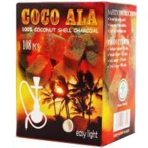 Coco Ala Natural Coconut Charcoal Coal for Hookah Shisha (108 pcs (Flat))