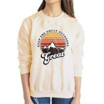 Get Lost Graphic Sweatshirt Women Wander Mountain Printed Great Camping Long Sleeve Tee Top