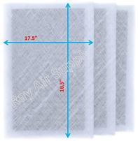 RAYAIR SUPPLY 20x20 MicroPower Guard Air Cleaner Replacement Filter Pads (3 Pack) White