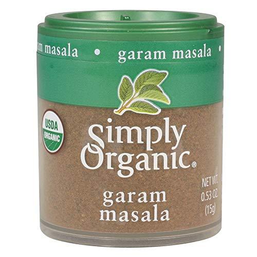 Simply Organic Garam Masala, Certified Organic | 0.53 oz | Pack of 6