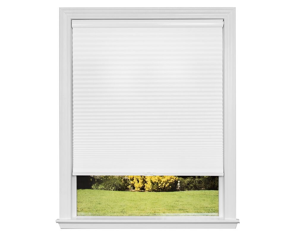 Redi Shade Artisan Select No Tools Custom Cordless Cellular Blackout Shades, Cloud White, 35 1/2 in x 72 in