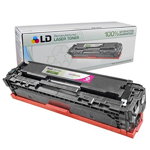 LD Remanufactured Toner Cartridge Replacement for HP 125A CB543A (Magenta)