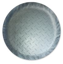 "ADCO 9757 Silver Diamond Plated Steel Vinyl Spare Tire Cover J, (Fits 27"" Diameter Wheel)"