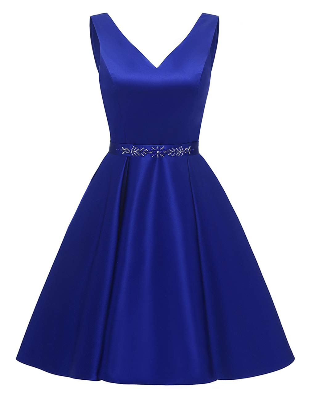 yinyyinhs V Neck Short Homcoming Prom Dresses Beaded Satin Cocktail Party Dress