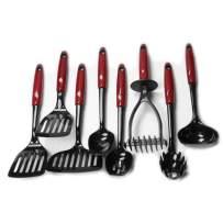 Chef Craft 42049 8-Piece Kitchen Tool Set, Red