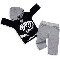 Newborn Baby Boy Girl Clothes Long Sleeve Dinosaur Hoodie Tops+ Cute Pants 2PCS Outfit Set