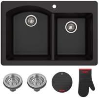 Kraus Forteza Granite Kitchen Sink, 33-Inch, KGD-50BLACK