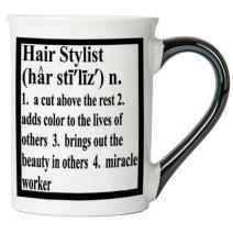 Cottage Creek Hair Stylist Gifts Large 18 Ounce Ceramic Hair Stylist Definition Coffee Mug/Hairdresser Gifts [White]