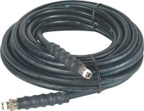 """Valley Industries 75W1-H-BLK Pressure Washer Hose-75FT, 4000 PSI, 3/8"""" Connection, Black"""