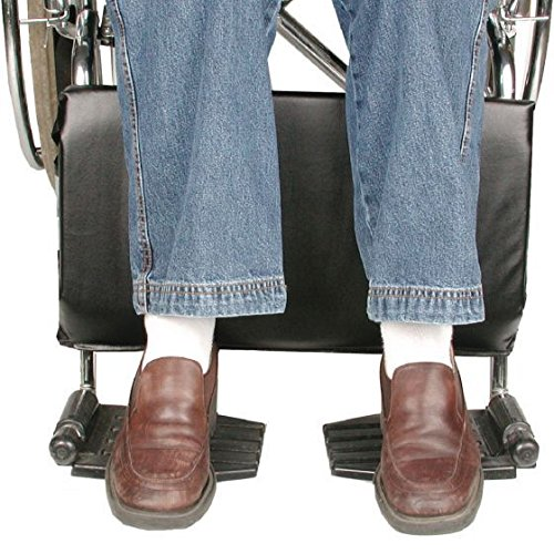 """Lacura Wheelchair Calf Protector, Fits 18"""" Wheelchair, Wheelchair Leg Pad, Comfortable Legrests for Wheelchairs, Lower Leg Pad Protector Wraps Around for Comfort & Support, Keep Feet on Footrest"""