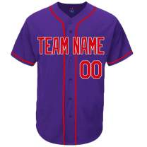 Pullonsy Purple Custom Baseball Jersey for Men Women Youth Throwback Embroidered Team Name & Numbers S-8XL - Design Your Own