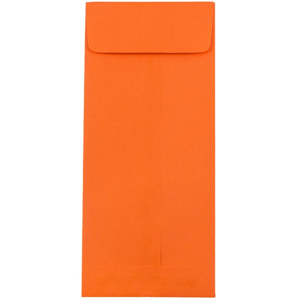 JAM PAPER #10 Policy Business Colored Envelopes - 4 1/8 x 9 1/2 - Orange Recycled - 50/Pack