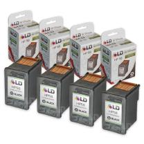 LD Remanufactured Ink Cartridge Replacement for HP 56 C6656AN (Black, 4-Pack)