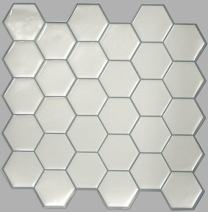 """RoomMates Pearl Hexagon StickTILES, 4-pack 10.5"""" X 10.5"""""""