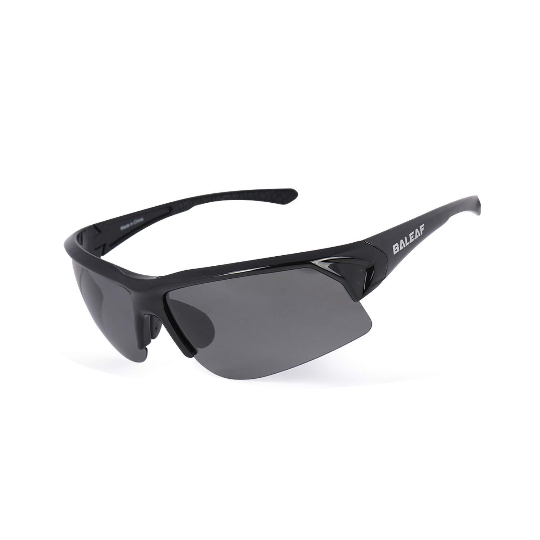 BALEAF Superlight Polarized Sports Sunglasses Tr90 Cycling Bike Eyewear with Adjustable Nose Piece for Men Women