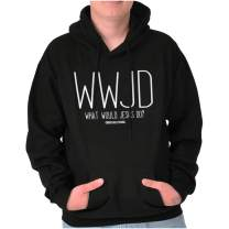 WWJD What Would Jesus Do Christian Bible Hoodie