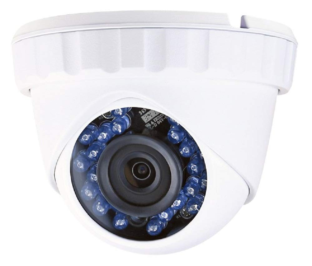 Monoprice 2.1MP Full HD 1080p TVI Security Camera Outdoor & Indoor 1920x1080p@30fps - White with a 2.8mm Fixed Lens, Motion Detection, 24 IR LEDs, and IP66 Water Proof Rating