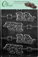"Cybrtrayd Life of the Party B055 ""Baby"" Lolly Chocolate Candy Mold in Sealed Protective Poly Bag Imprinted with Copyrighted Cybrtrayd Molding Instructions"