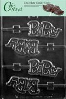 """Cybrtrayd Life of the Party B055 """"Baby"""" Lolly Chocolate Candy Mold in Sealed Protective Poly Bag Imprinted with Copyrighted Cybrtrayd Molding Instructions"""