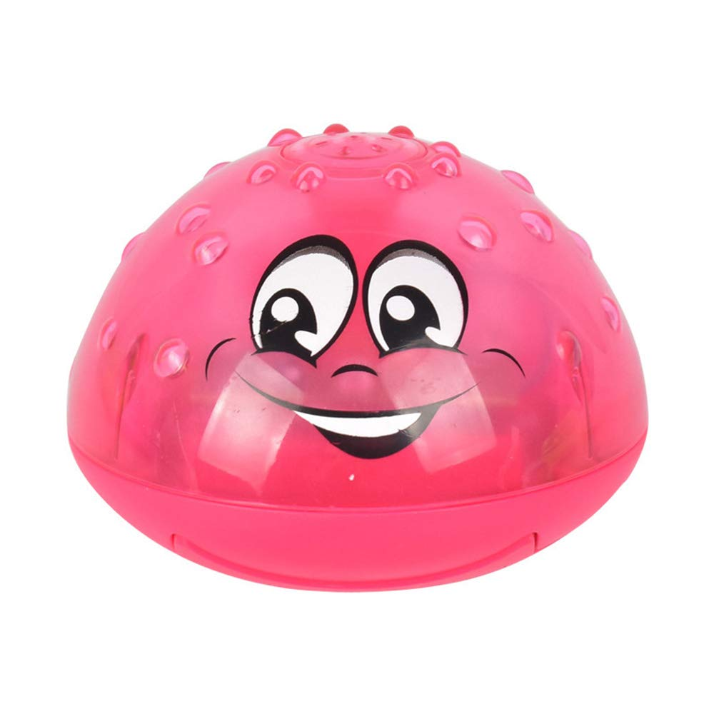 Yidarton Bath Toys Spray Water Toy with Music & LED Light Automatic Induction Sprinkler Bath Toy for Toddlers (Pink (No Base))