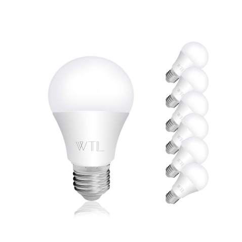 Wtl A19 Led Bulb 6 Pack 6w Equivalent 40w Warm White 2700k 480lm Non Dimmable Led Light Bulbs Medium Base E26 For Home Kitchen Living Room Bedroom Commercial Lighting