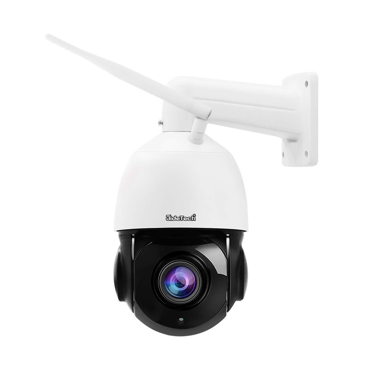 5MP PTZ WiFi Security Camera Outdoor, 20x Zoom Smart Surveillance IP Camera, 1000ft View Distance/SDM Array IR Night Vision/Detection Alarm / 2-Way Audio/SD Card Slot/ONVIF/ IP66 Waterproof