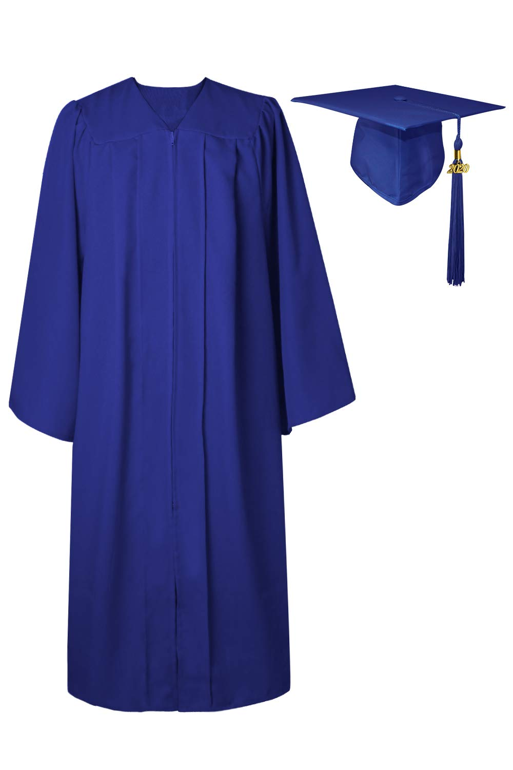 GraduatePro Matte Cap and Gown Graduation 2020 Adults with Tassel Year Charm for High School & Bachelor 12 Colors