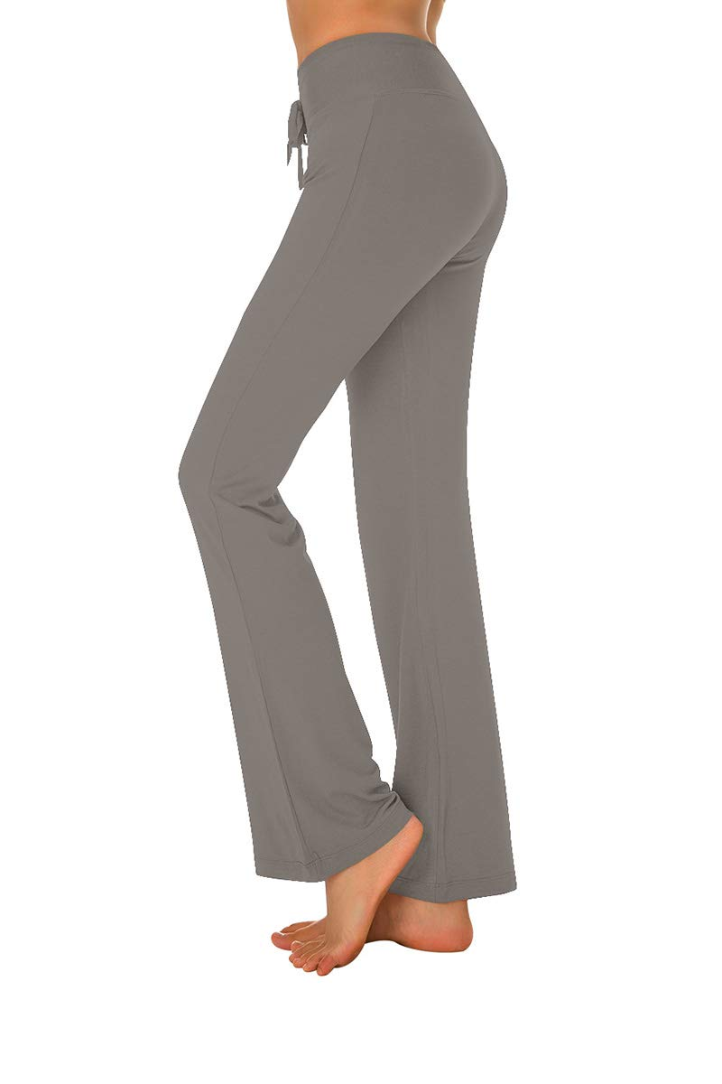 PACBREEZE Women's Bootcut Yoga Pants Comfortable High Waist Drawstring Lounge Pants
