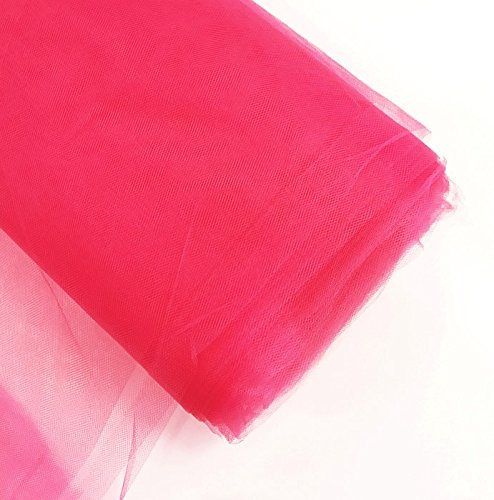 Craft and Party, Inc. 54'' Tulle (Bolt 40 Yard) Fabric Hot Pink