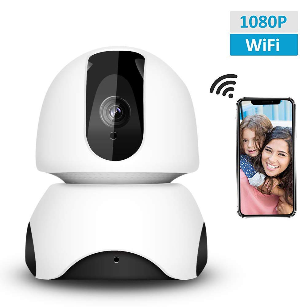 Security Camera 1080P WiFi Dog Pet Camera, Wireless IP Camera Indoor Pan/Tilt/Zoom Home Camera Baby Monitor IP Camera with Motion Detection Two-Way Audio, Night Vision - Cloud Storage