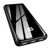 Wireless Portable Charger Power Bank 25000mAh - High Capacity with LCD Digital Display,3 USB Output & Dual Input External Battery Pack Compatible with Smart Phones,Android Phone,Tablet and More