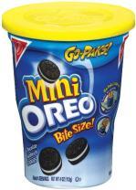 Oreo Mini Chocolate Bite Size Sandwich Cookies, 4-Ounce Go Paks (Pack of 8)