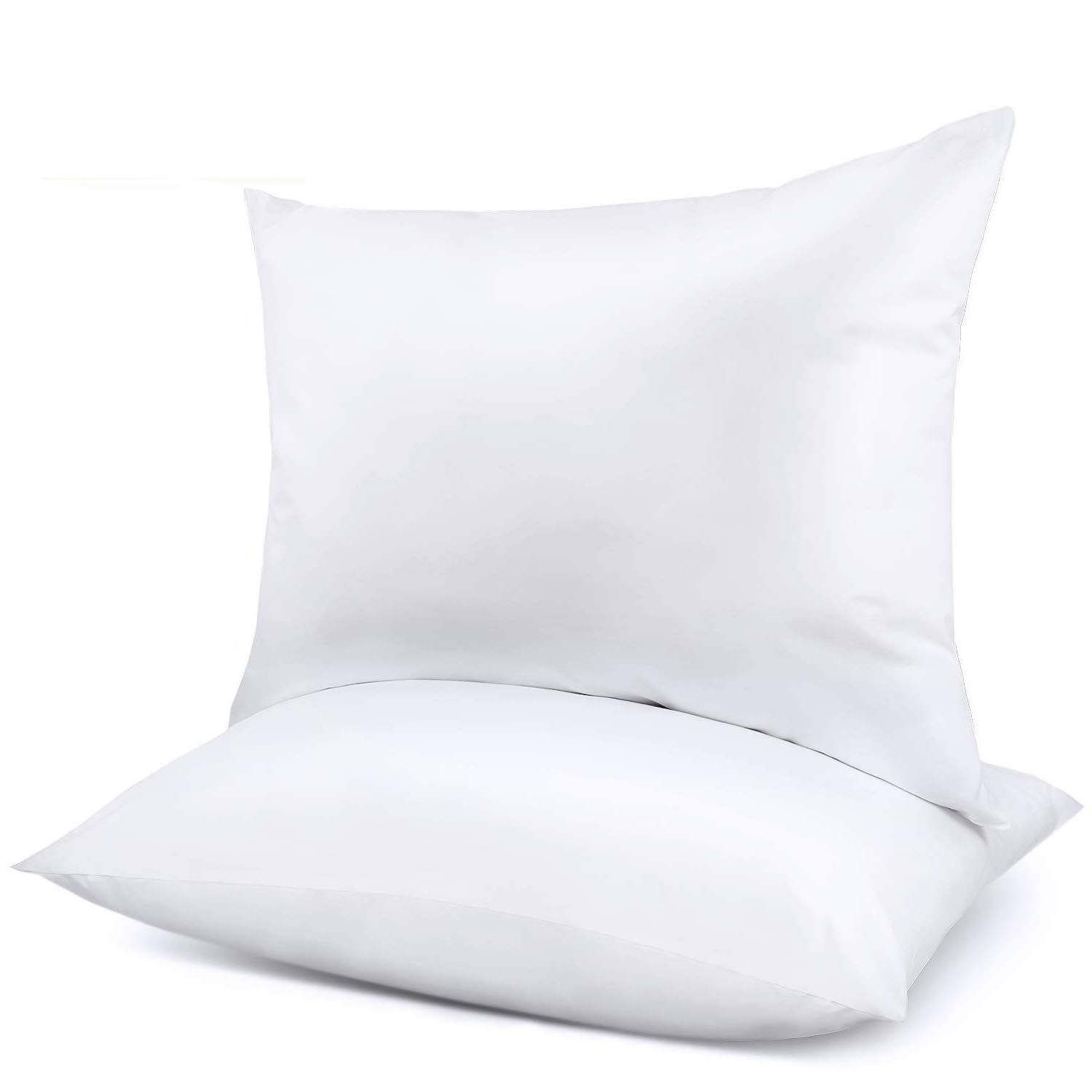 Adoric Pillows for Sleeping, 2 Pack Bed Pillows Hotel Collection 100% Breathable Cotton Cover Skin-Friendly Pillows, White Standard