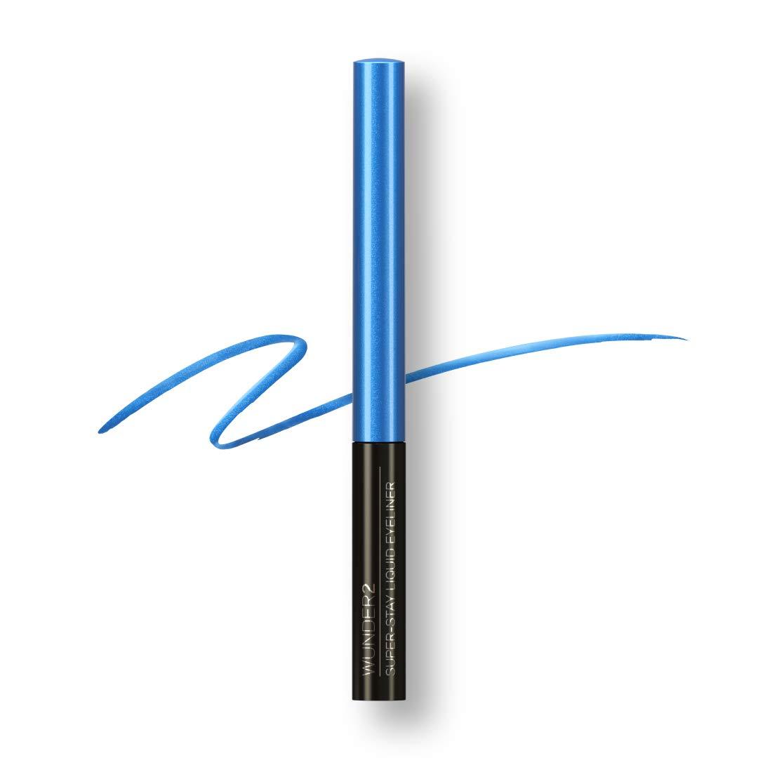 WUNDER2 Super-stay Long Lasting & Waterproof Liquid Eyeliner, Electric Blue, 0.058 fl. oz.