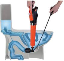 FEIYABDF Toilet Plunger, Drain Unblocker, Powerful Electric Pneumatic Dredge Equipment. High Pressure Air Drain Blaster Cleaner High Efficient, Applied to Kitchen, Bathroom, Clogged Pipe.(Orange)