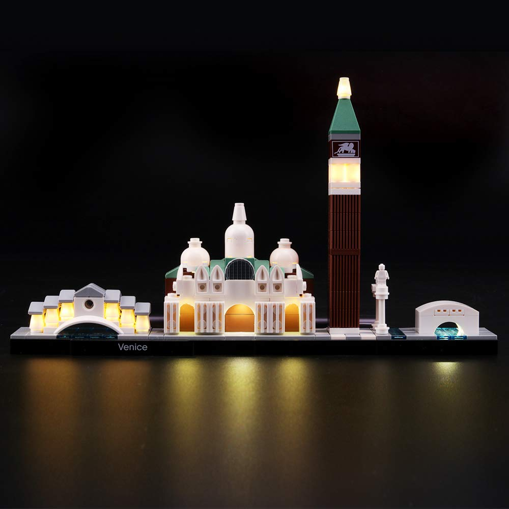 LIGHTAILING Light Set for (Architecture Venice) Building Blocks Model - Led Light kit Compatible with Lego 21026(NOT Included The Model)