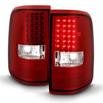 For Red Clear 04-08 F150 F-150 Full LED Tail Lights Brake Lamp Replacement Driver And Passenger Side