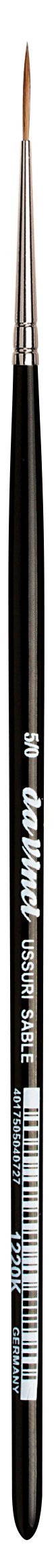 da Vinci Watercolor Series 1220K Liner/Rigger Paint Brush, Round Russian Red Sable, Size 5/0