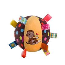 LETTON Colorful Taggies Chime Ball - Soft Plush Sensory Rattle Toy as for Babies Kids Toddlers Infants