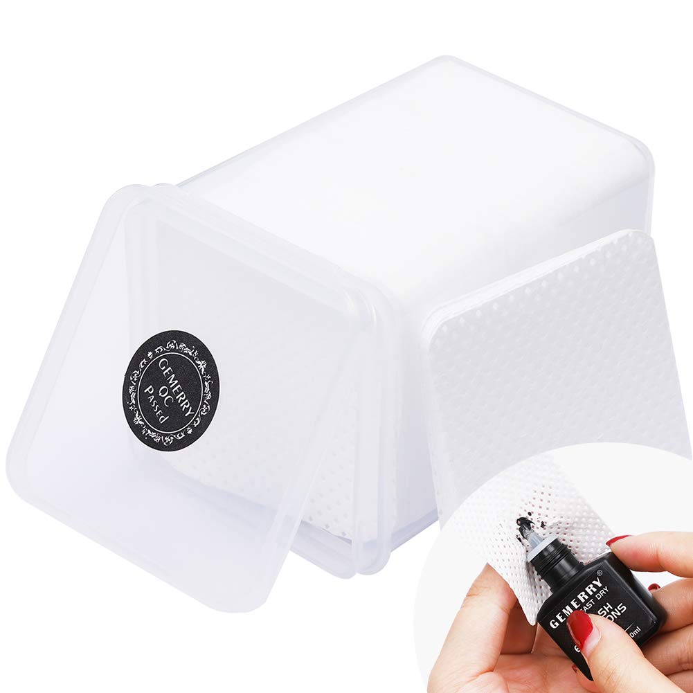 Lash Extension Supplies Eyelash Extension Glue Cleaning Cotton 200pcs Cleanser Remover Makeup Cotton Pad by GEMERRY