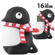 Bone Collection 32GB USB 3.0 Flash Drive, Novelty Cute Animal Cartoon Enclosure Thumb Drive Jump Drive Pen Drive Pendrive Memory Stick - Penguin
