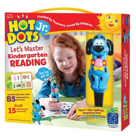 Educational Insights Hot Dots Jr. Let's Master Kindergarten Reading Set, Homeschool, 2 Books & Interactive Pen, 100 Math Lessons, Ages 5+