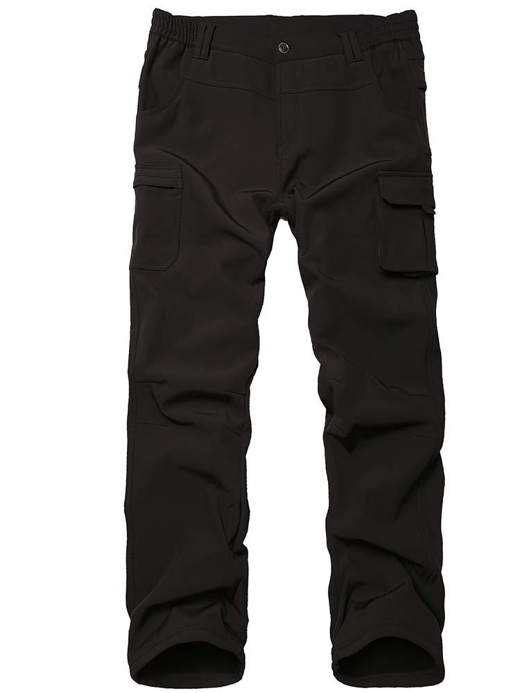 linlon Kids Boys Girls Waterproof Outdoor Hiking Pants Soft Shell Fleece Lined Insulated Pants