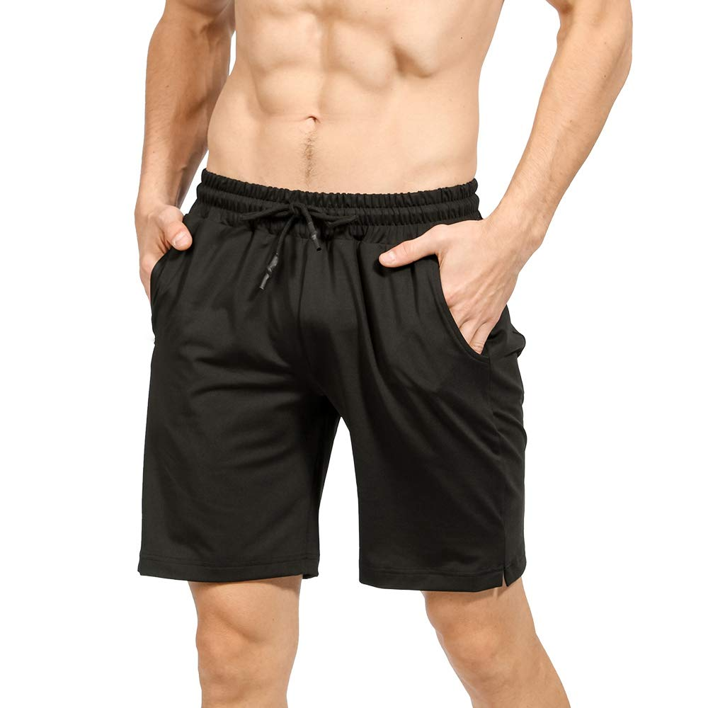 """ZIOLOMA Mens 2 in 1 Workout Athletic Running Shorts Quick Dry 7"""" Gym Shorts for Men with Towel Loop"""