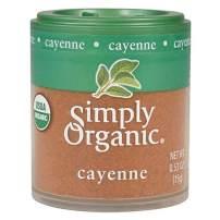 Simply Organic Ground Cayenne, Certified Organic   0.53 oz   Pack of 6   Capsicum annuum L.