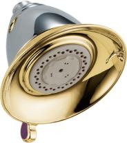 Delta Faucet 3-Spray Touch-Clean Shower Head, Chrome and Polished Brass RP34355CB
