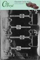 Cybrtrayd Life of the Party J022 Delivery Truck Lolly Chocolate Candy Mold in Sealed Protective Poly Bag Imprinted with Copyrighted Cybrtrayd Molding Instructions