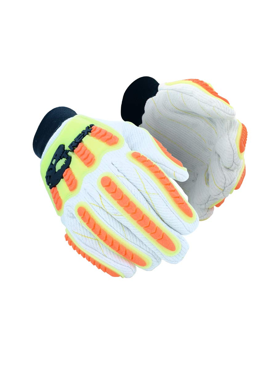 MAGID T-REX Primal Series TRX105 Cotton Blend Palm Impact Glove | Cut Level A2, Size 9/L