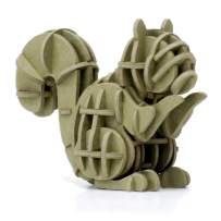 JIGZLE Squirrel Paper 3D Puzzle - Laser Cut Miniature Animal Craft Kit for Kids and Adults - Birthday Gift and Party Favor for Puzzle and Origami Paper Craft Enthusiasts